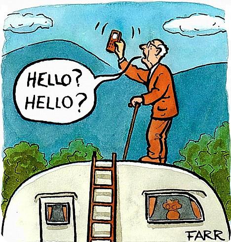 No mobile reception - Tweed Coast caravan sales